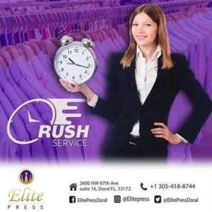Elite Press Dry Cleaners Doral Miami. Rush